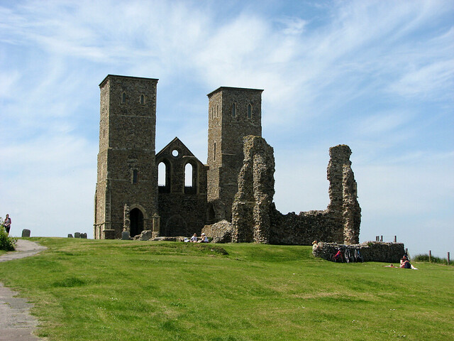 The remains of St Mary's Church, Reculver