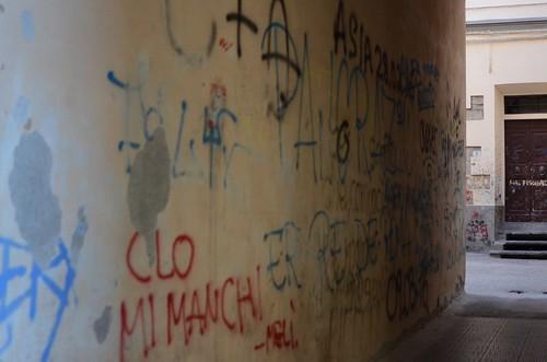 Scritte sui muri a Pistoia