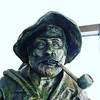 Crazy shoreman bronze statue.