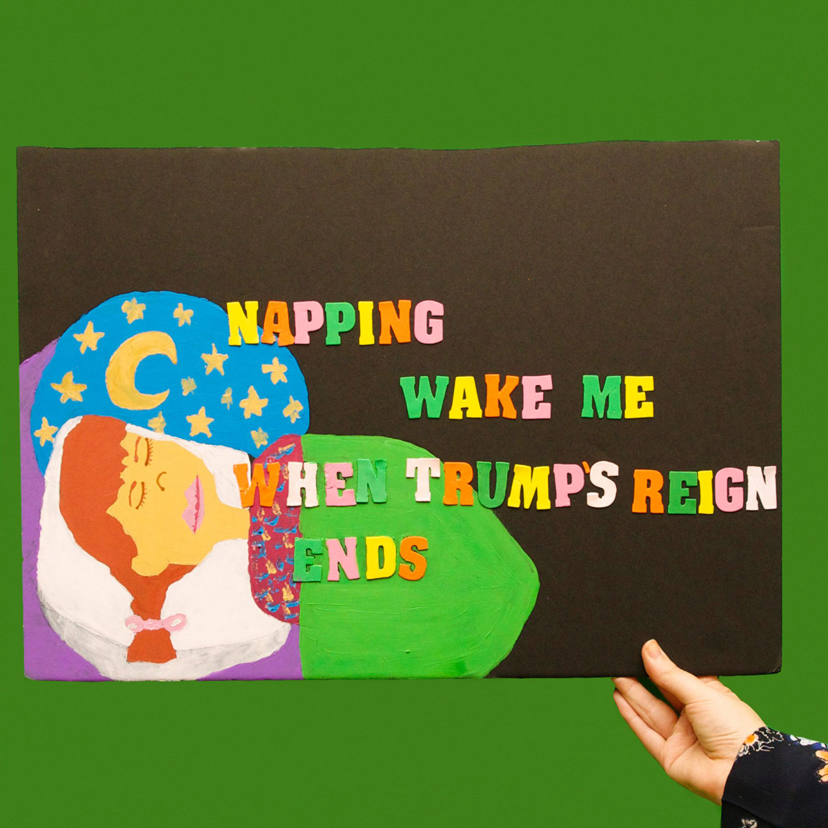 45 Protest Signs_Brandon and Olivia Locher_22_Napping