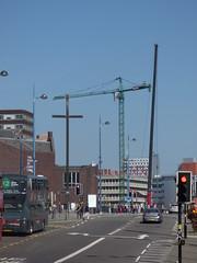 Birmingham Moor Street Station - Exchange Square crane going up