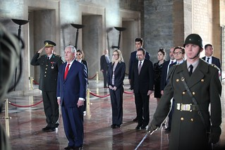Secretary Tillerson Participates in a Wreath-Laying Ceremony at Anitkabir