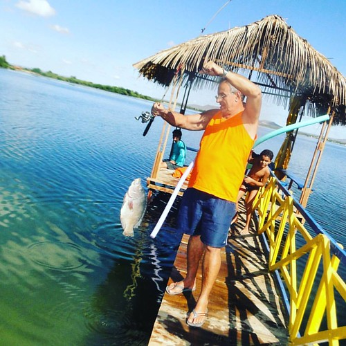 O #pescador #velhochico #tilápia #peixe