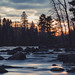 St. Louis River Sunset at Jay Cooke State Park, Minnesota