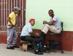 Shoe shine, Havana, Cuba.