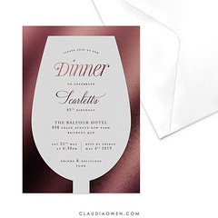 This would be perfect for those diners with lots of wine and delicious food #partyinvitations #birthdayparty #dinnerparty