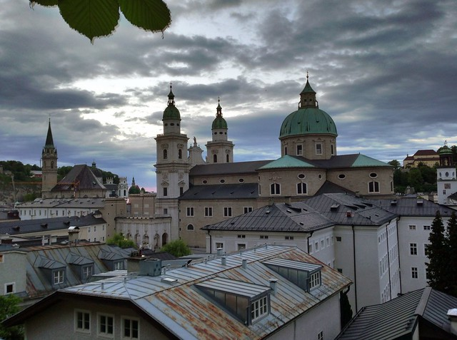 Salzburg seen from the Stieglkeller terrace