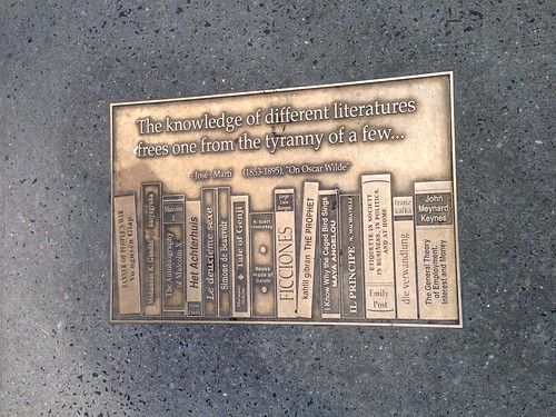 Sidewalk plaque, 41st St. (Library Row)