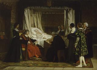 """""""Testamento de Isabel la Católica"""", obra de Rosales."""