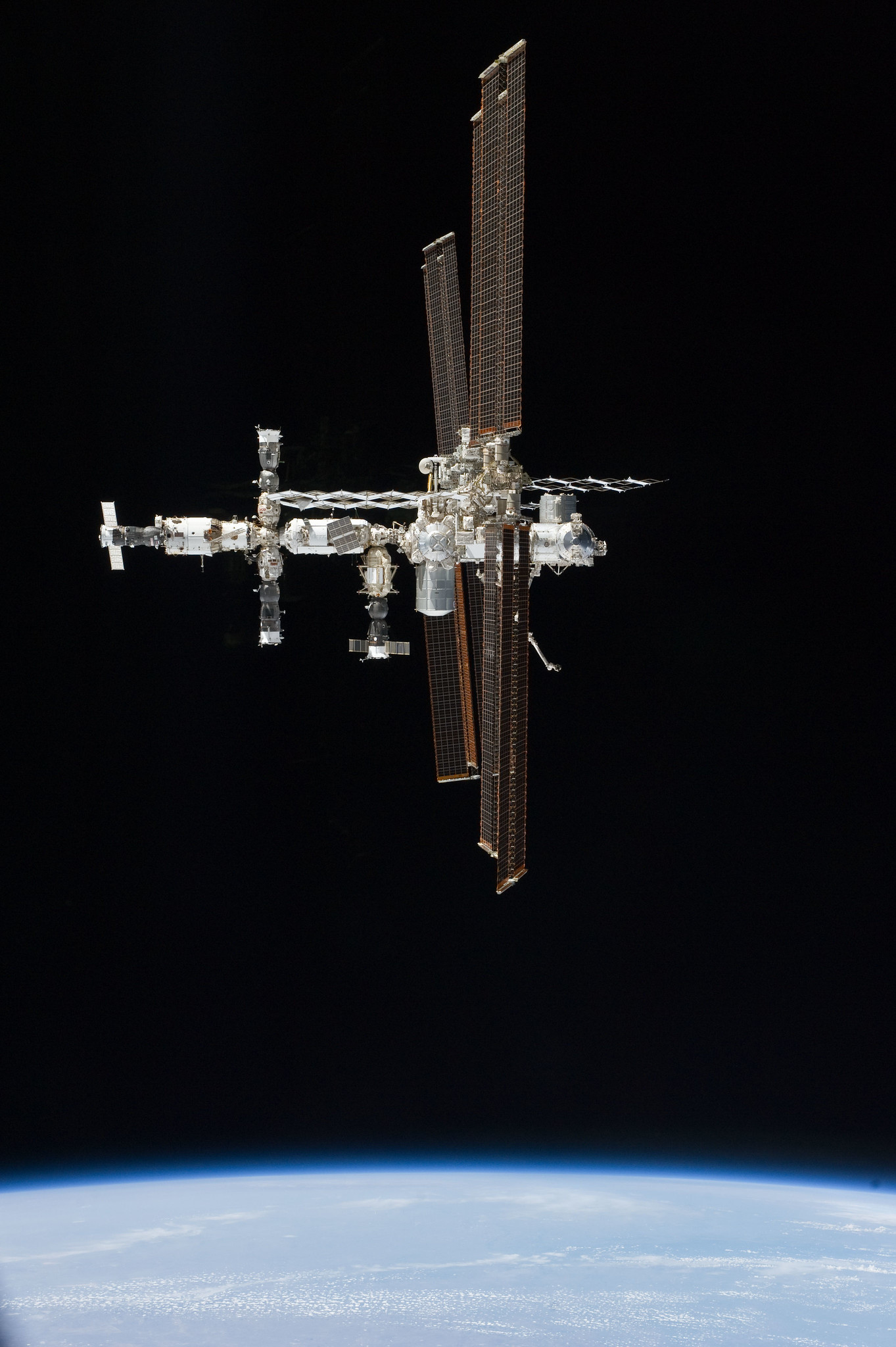 International Space Station Above Earth (NASA ...