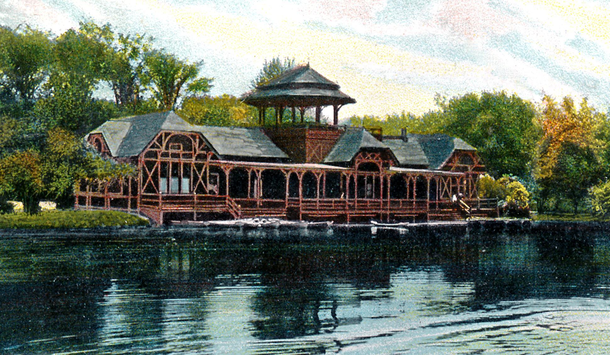 Boat House Washington Park Lake 1907 Albany Ny Early 1900s