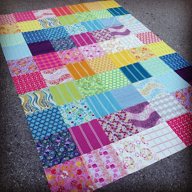 Epic AMH quilt top complete--extra long for extra tall hubby!