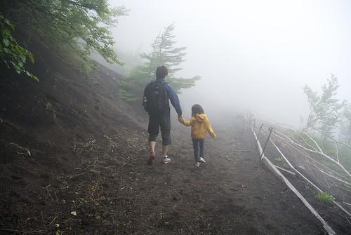 富士山雲の中