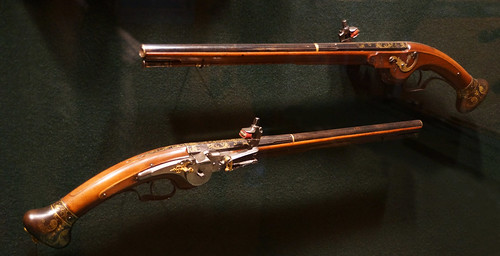 Pair of Flintlock Pistols-Metropolitan Museum, NYC, 6-25-2013