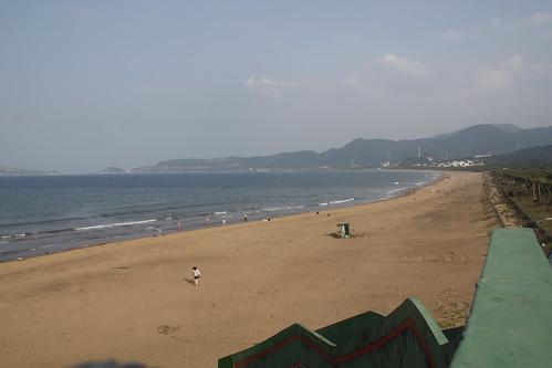 淨灘後美麗的沙灘