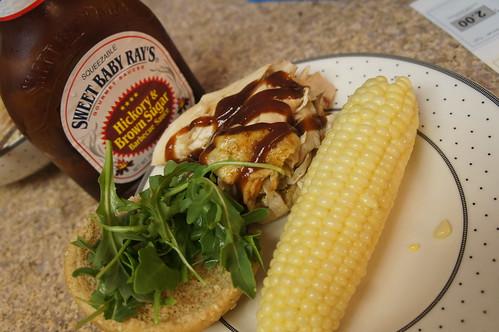 slow cooker pulled bbq chicken sweet corn sweet baby rays