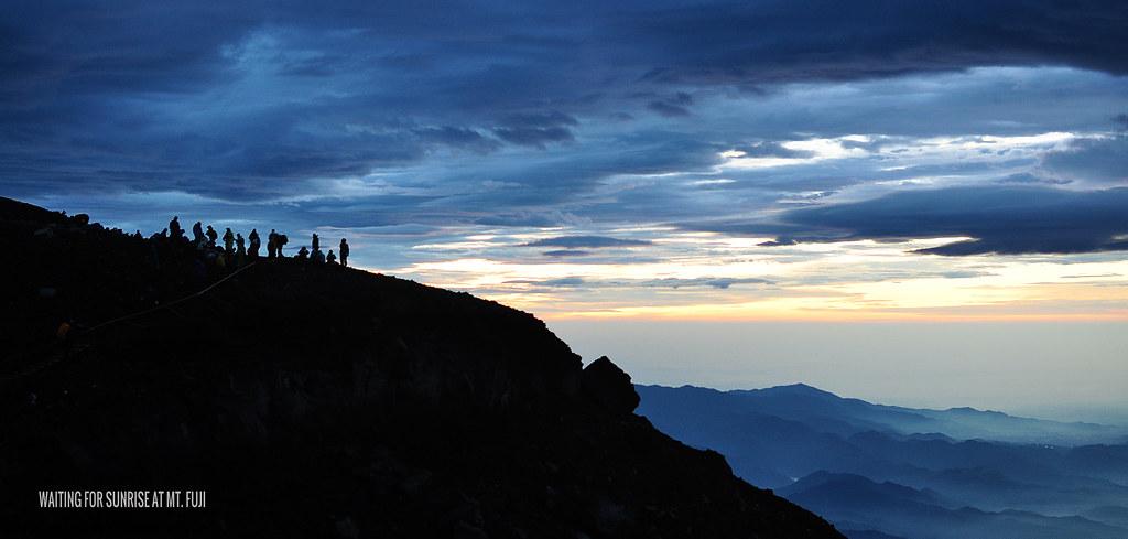 Waiting for sunrise at Mt. Fuji
