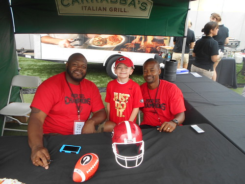 Trey with George Foster and Damien Gary
