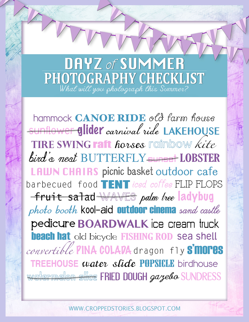 Days of Summer Photography Checklist RS