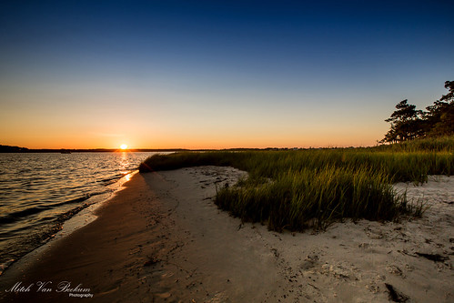 sunset sun beach nature grass de landscape evening bay sundown bayside sunburst delaware littleassawomanbay fenwickislandstatepark