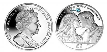 South Georgia Royal Baby Coin