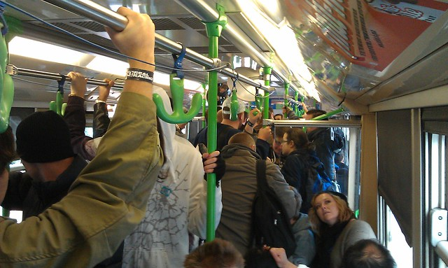 The tram coming back from PAX Australia
