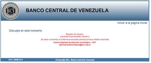 Rusicad con inconvenientes para registrar for Googlebanco de venezuela