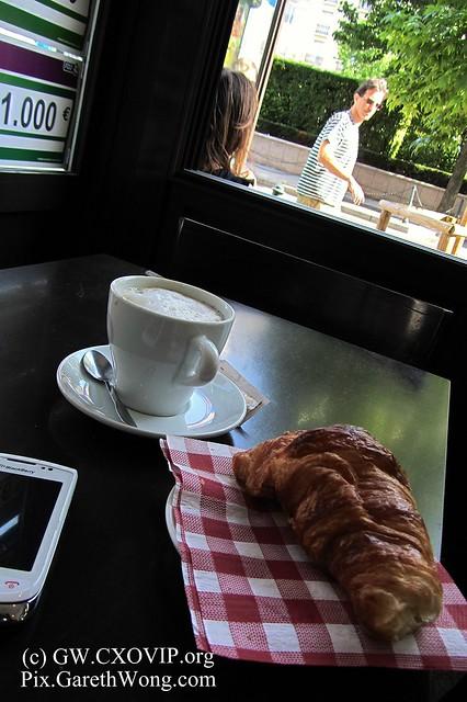 coffee & croissant in Paris.. IMG_2674
