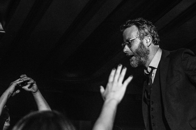 Matt Berninger in the crowd at The National concert in Indianapolis.