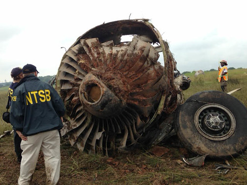 NTSB Investigators on scene UPS1354