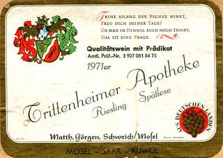 Trittenheimer Apotheke 1971 (Mosel)