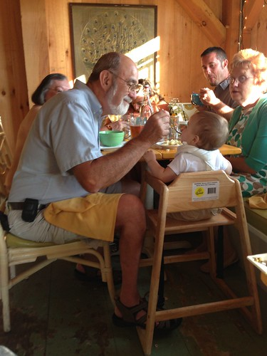 Grandpa Feeds Elliott Chowder