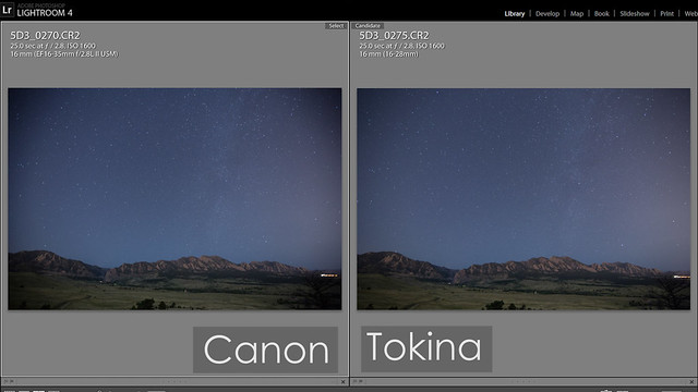 Canon 16-35mm II vs Tokina 16-28mm Vignetting: Tokina Wins