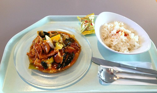 Ko Lo Kai - Putenfleisch süß-sauer / Turkey sweet sour