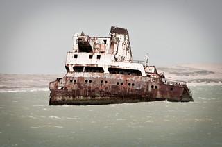 El puente de mando del Denisse Marie, un naufragio frente a las costas del cabo San Román