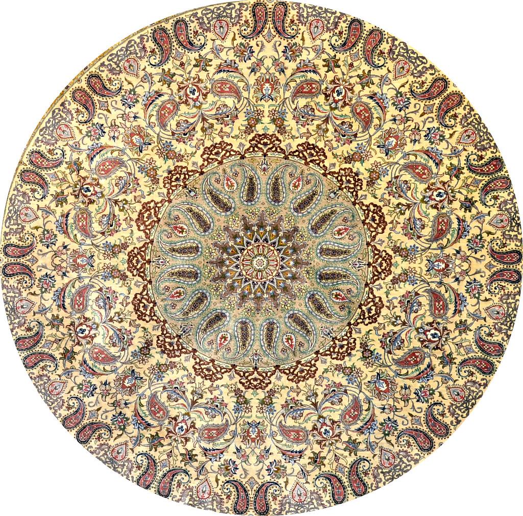 Qum Qom Pure Silk Circular 200x200 or 7x7
