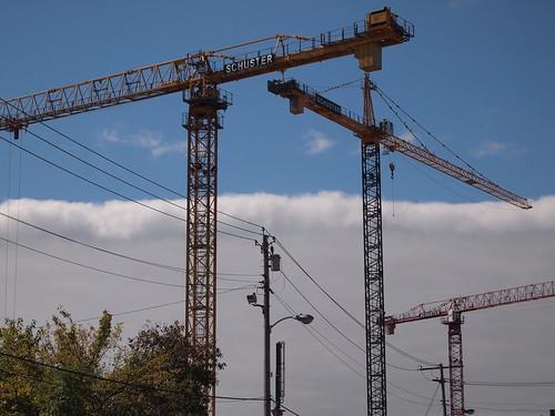 Cranes & weather front
