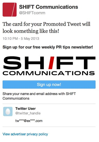 Card Weekly Newsletter - Twitter Ads
