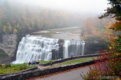 Letchworth State Park - Middle Falls (Wide Shot)