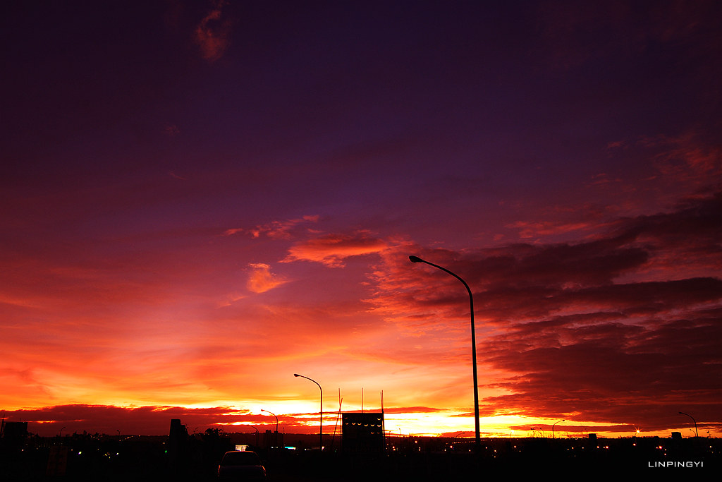 颱風走了夕陽來了@K-5