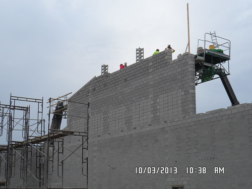 Topping out Gym wall