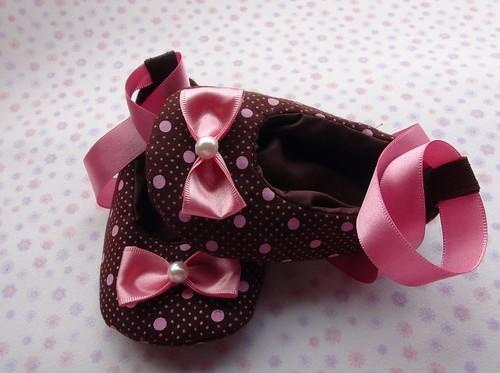 Sapatilha Lacinho e Poás by Cute for Baby by Mirian Rezende