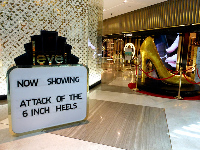 Dubai mall shoe section