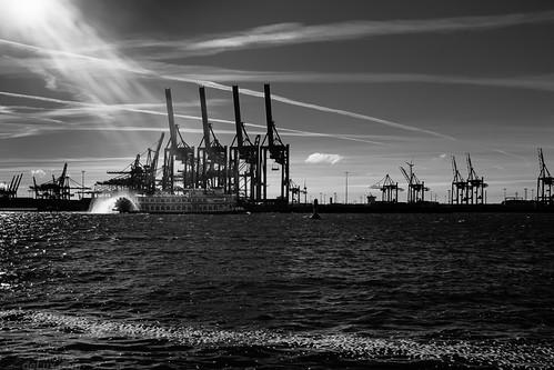 Harbour Landscape B&W - Fuji X100S