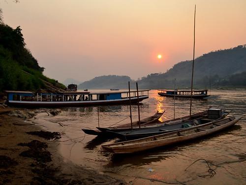 Atardecer en Laos