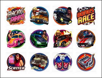 free Racing for Pinks slot game symbols