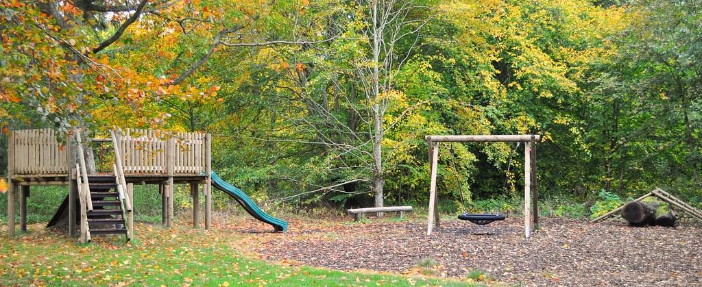 Children's playground at Mellerstain House, Scottish Borders