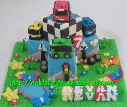 Miniature Kue Ulang Tahun Tayo The Blue Bus Revan Jual