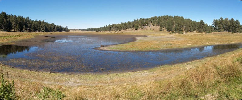 Panorama shot from the south end of Big Laguna Lake in Laguna Meadow