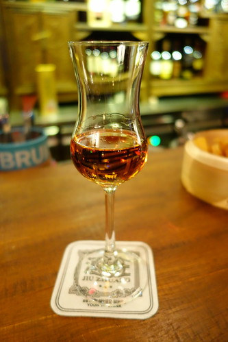 A dram of Auchentoshan Three Wood Whisky